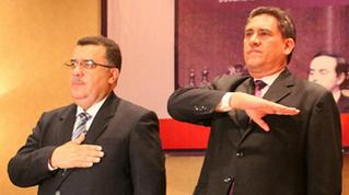 En la foto: Gálvez y Alejos en el Foro del 27 aniversario de la Constitución del 1985 el 31 de mayo de 2012. Fuente: http://www.flickr.com/photos/robertoalejoscambara
