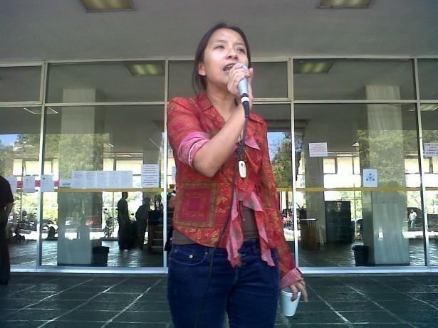 """""""Usted firmó un acuerdo con los estudiantes, esperamos que tenga palabra y asuma su compromiso"""" (Sandra Xinico, representante de EPA ante la Comisión Multisectorial)"""