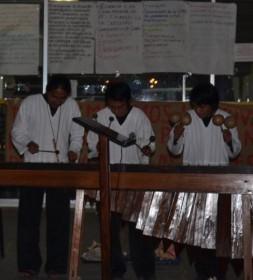 Al final de la jornada se realizó una actividad cultural organizada por el Movimiento de Estudiantes Mayas (Movemaya) en la que participó el grupo de Marimba Xajonel (música maya), que puso a vibrar las afueras de rectoría al ritmo de sonidos que evocaron nuestras raíces y dotaron de fuerza la fría noche del 12 de febrero de 2013.