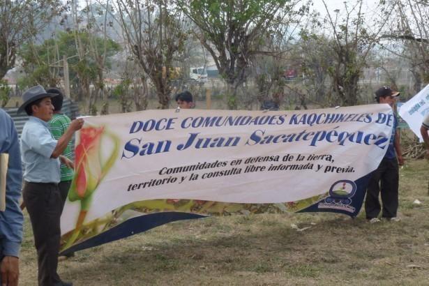 La solidaridad de las 12 comunidades en Resistencia de San Juan Sacatepequez