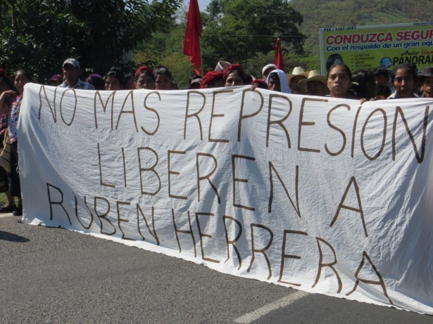Marcha del 1ro. de Mayo en Huehuetenango