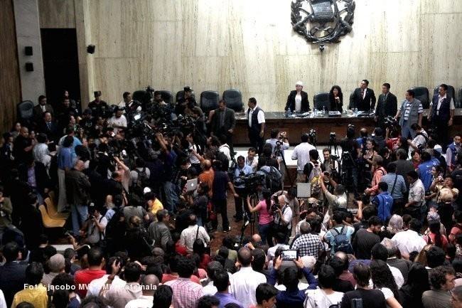 Ríos Montt fue condenado por genocidio ixil y crímenes de lesa humanidad durante la guerra en Guatemala, en el período de 1982 a 1983. Foto> jacoboMV de cmiguate.org