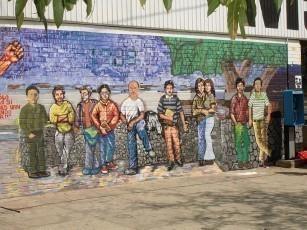 develacion de mural martires 89 AEU
