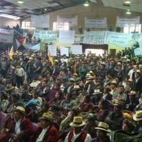 El día 20 de abril se hicieron presentes en el salón municipal de Nebaj más de 400 personas de comunidades de los pueblos ixil, quiché, sacapulteco, qanjobal, etc. para manifestarse a favor de la vida y en defensa de los bienes naturales.