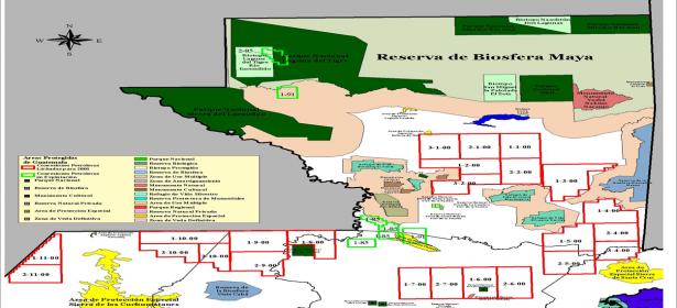 Concesiones petroleras y Sistema Guatemalteco de Áreas Protegidas