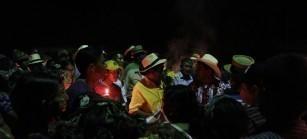 """""""Por el miedo, muchos cuerpos se quedaron en las montañas, no los pudimos sepultar. Ahora, al menos nuestras familias tienen una tumba a donde ir"""". (Virgilio García Carrillo, lider en la comunidad El Triunfo)."""