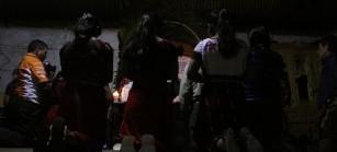 Las familias velaron los cuerpos, mientras lxs demás pobladores de la comunidad de El Triunfo les acompañaron durante toda la noche.