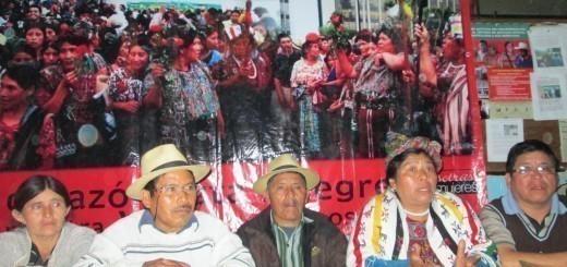 Conferencia de prensa realizada en la sede de la Alcaldía Indígena de Nebaj el 11 de enero de 2014