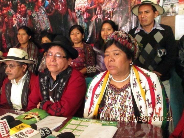 Conferencia de Prensa realizada a las 10:20 am en la sede de la Alcaldía Indígena de Nebaj