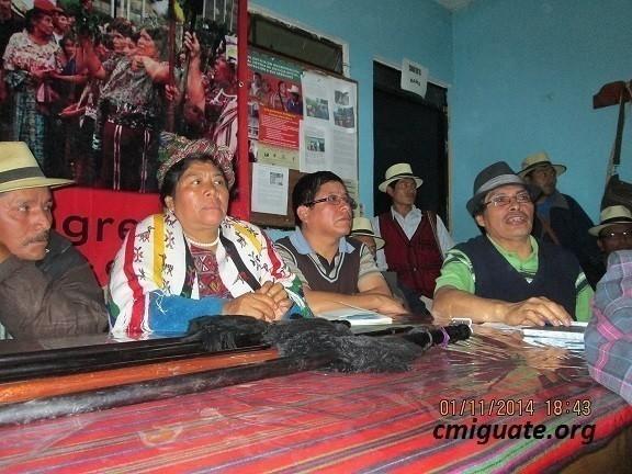 Conferencia de prensa realizada en la sede de la Alcaldía Indígena de Nebaj