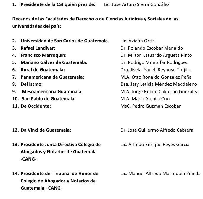 Fuente: Organismo Judicial