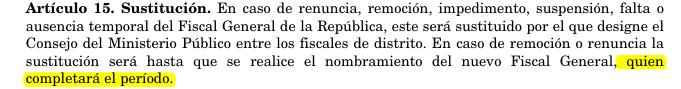Fuente: Ley Orgánica del Ministerio Público