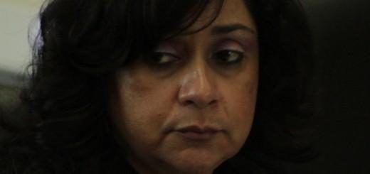 La ex-jueza mientras participaba en la Comisión de Postulación que eligió a Thelma Aldana. Fuente: Roderico Díaz (CMI-G)