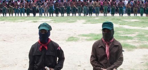 El EZLN y los Pueblos Zapatistas (Foto: Articulación de Medios Libres en la Caravana por Galeano)