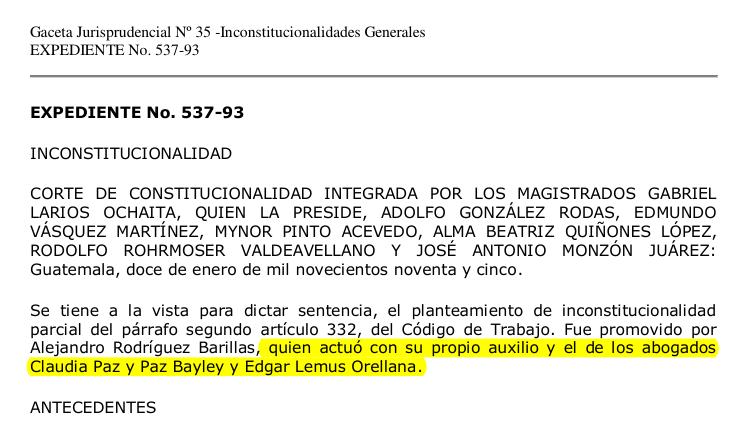 Fuente: Corte de Constitucionalidad