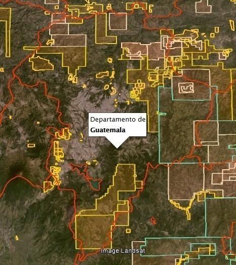 mapa minas guatemala