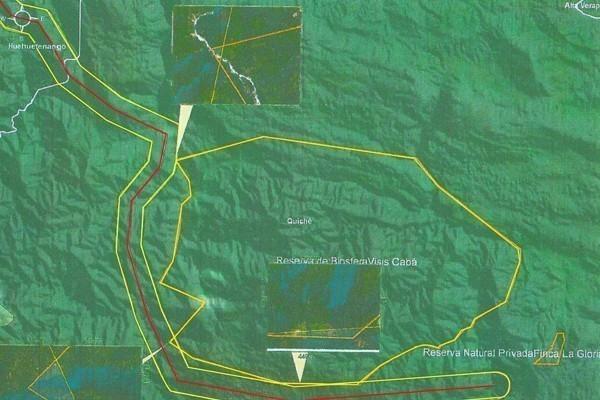 El trazo contemplado del PET toca en tres puntos el área protegida de Visis Cabá.