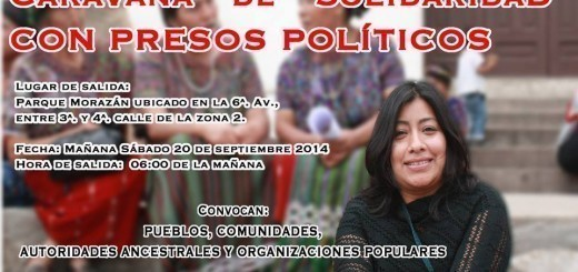 Caravana de solidaridad con Presos Políticos