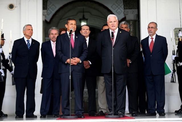 Declaración Conjunta a la Prensa pronunciaron presidentes Ollanta Humala y Ricardo Martinelli en Panamá Fuente: Presidencia del Perú