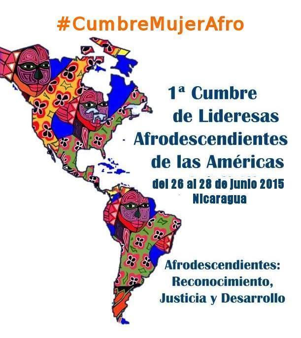 afiche de la Cumbre de Mujeres Afro