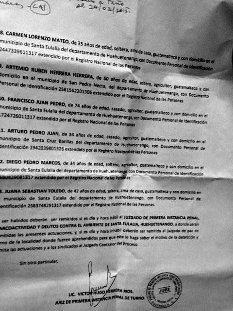 Orden de captura Barillas junio 15 Pag 2
