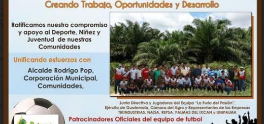 La publicidad de la campaña. Fuente: https://es-es.facebook.com/pages/Palma-de-Sayaxche/426411417404798