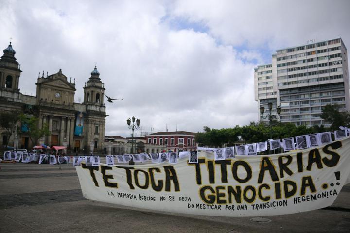 30 de junio en el Parque Central de la ciudad de Guatemala