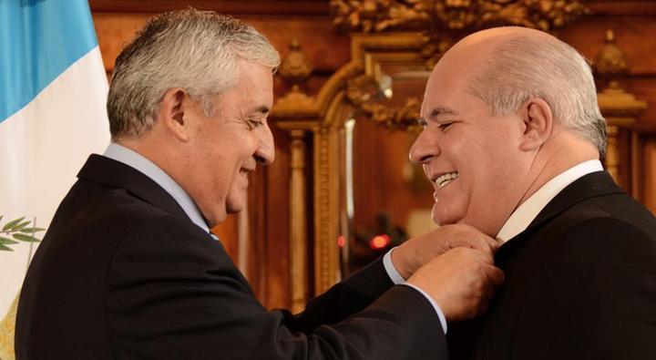 Otto Pérez Molina y Julio Ligorría. Foto: Sandra Sebastián, Plaza Pública