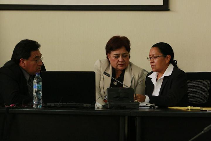 El Tribunal B de Mayor Riesgo, antes de dictaminar su resolución en contra de Ríos Montt. Foto: Roderico Díaz