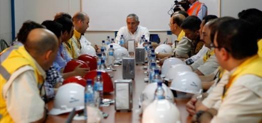 Pérez Molina en una de sus varias visitas a Jaguar. Foto: Presidencia de la República