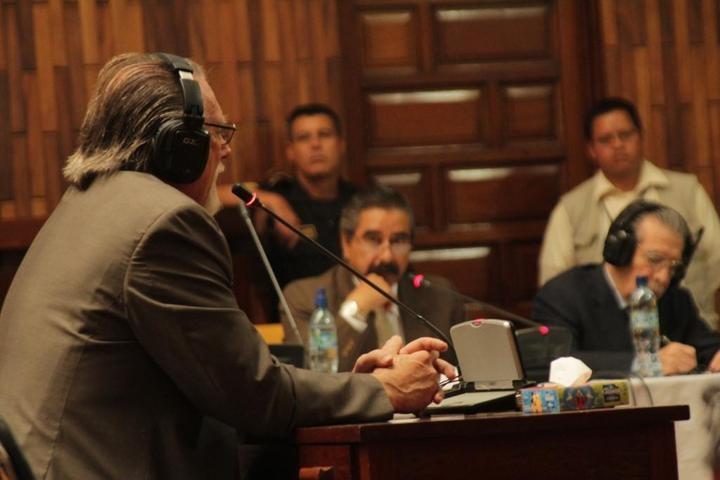 Alfred Kaltschmitt como testigo. Abril 2013. Foto: Roderico Díaz.