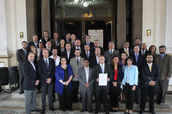 Representantes de la cúpula empresarial más tradicional presionaron este miércoles al Congreso para lograr la renuncia de OPM. Foto: Fundesa.