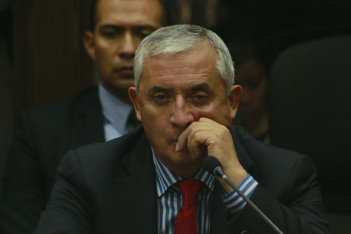 Pérez Molina, en su primera audiencia. Foto: Roderico Díaz.