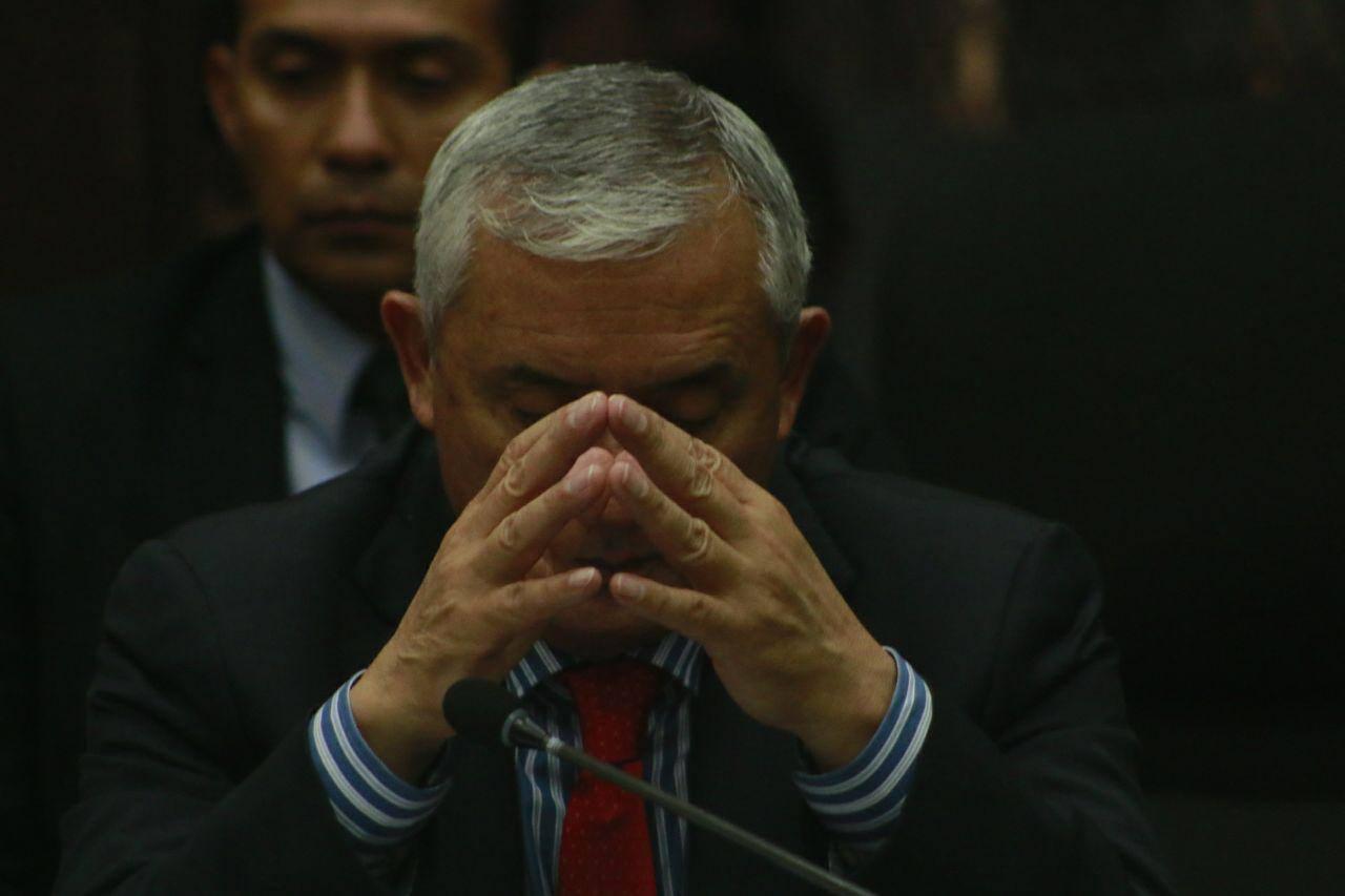Pérez Molina en su peor momento. Foto: Roderico Y. Díaz