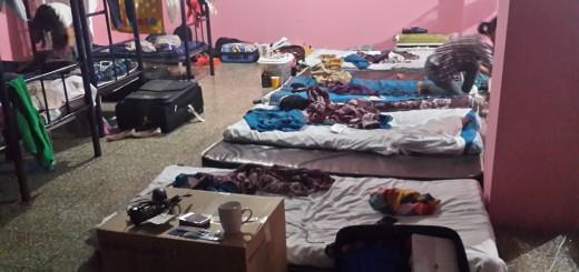 Este es el albergue en donde estaban presos los trabajadores chinos. Foto: Nómada