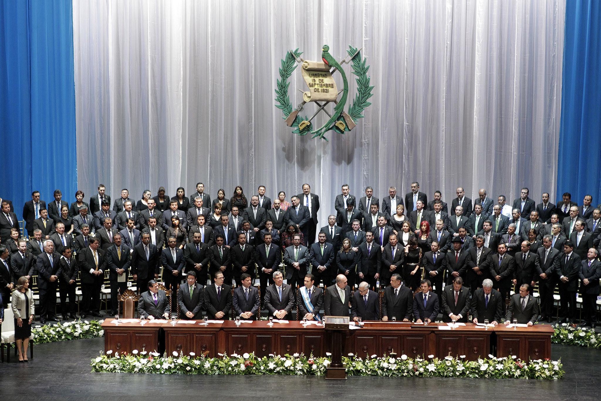 El nuevo gobierno de Jimmy Morales. Foto: Presidencia