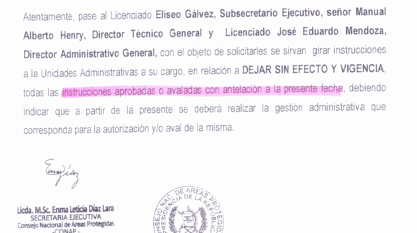 La carta de Díaz Lara.