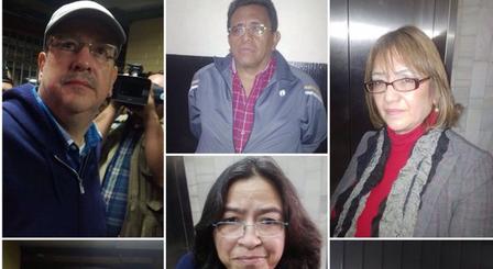 Una parte de los capturados por el Ministerio Público y CICIG. Foto: Ministerio de Gobernación.
