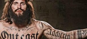 Jesús tatuado – Esta imagen es parte de un video religioso que fue criticado en EE. UU. en el 2013, por presentar a Jesús con el cuerpo tatuado. (Foto tomada de http://www.aztecatrends.com/)