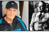 Oscar Mejía Víctores en 2011 (izquierda), crédito de foto: Prensa Libre/EFE, y en 1983 (derecha).