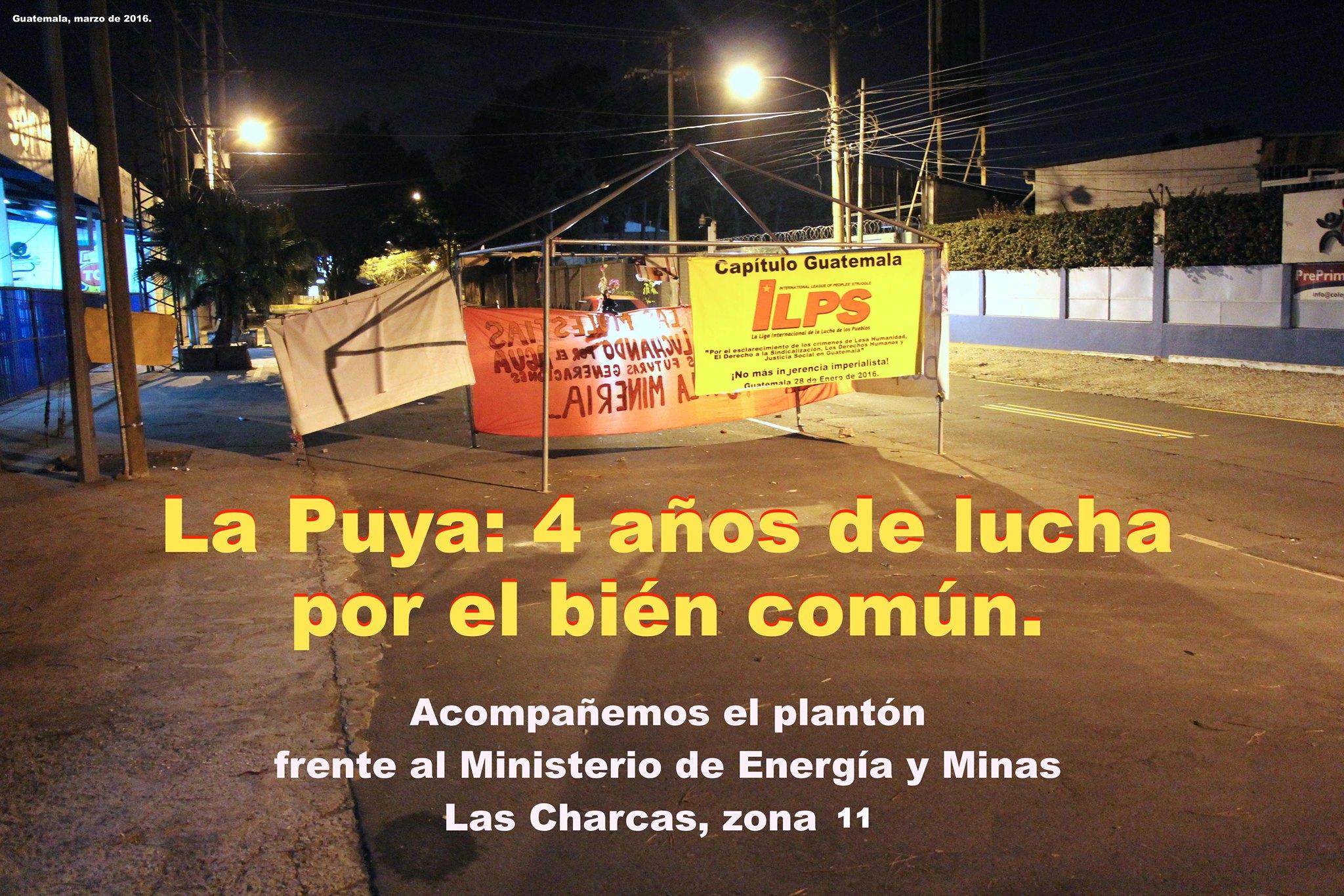 Foto tomada de las redes sociales de Resistecia pacìfica de La Puya