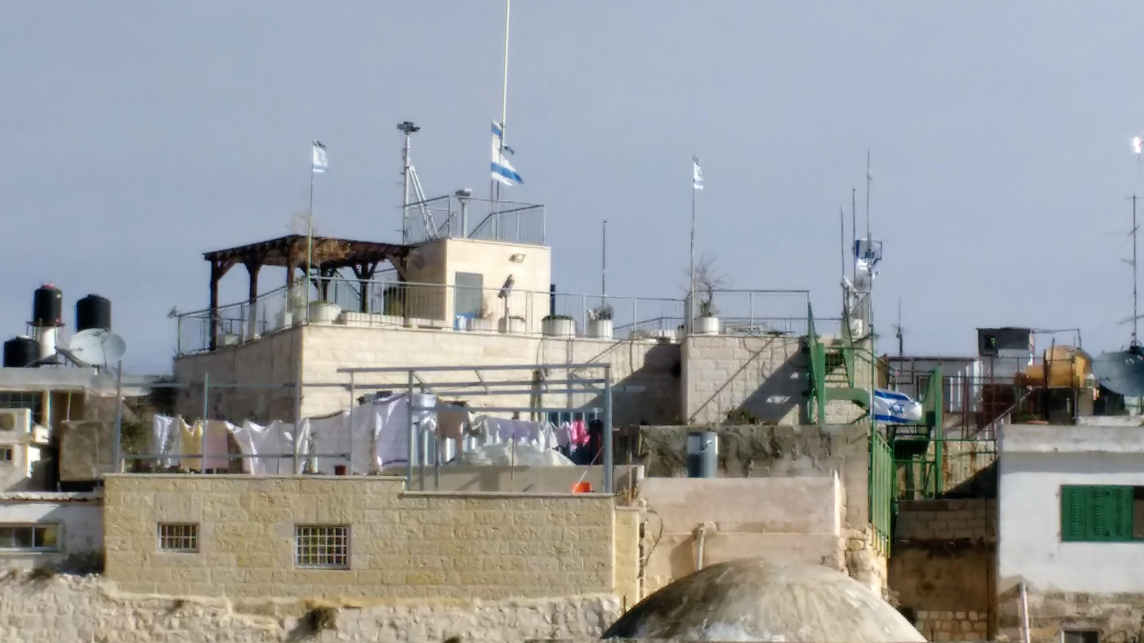 Ocupación ilegal sionista en medio de Jerusalén del Este, o la ciudad vieja de esta ciudad.