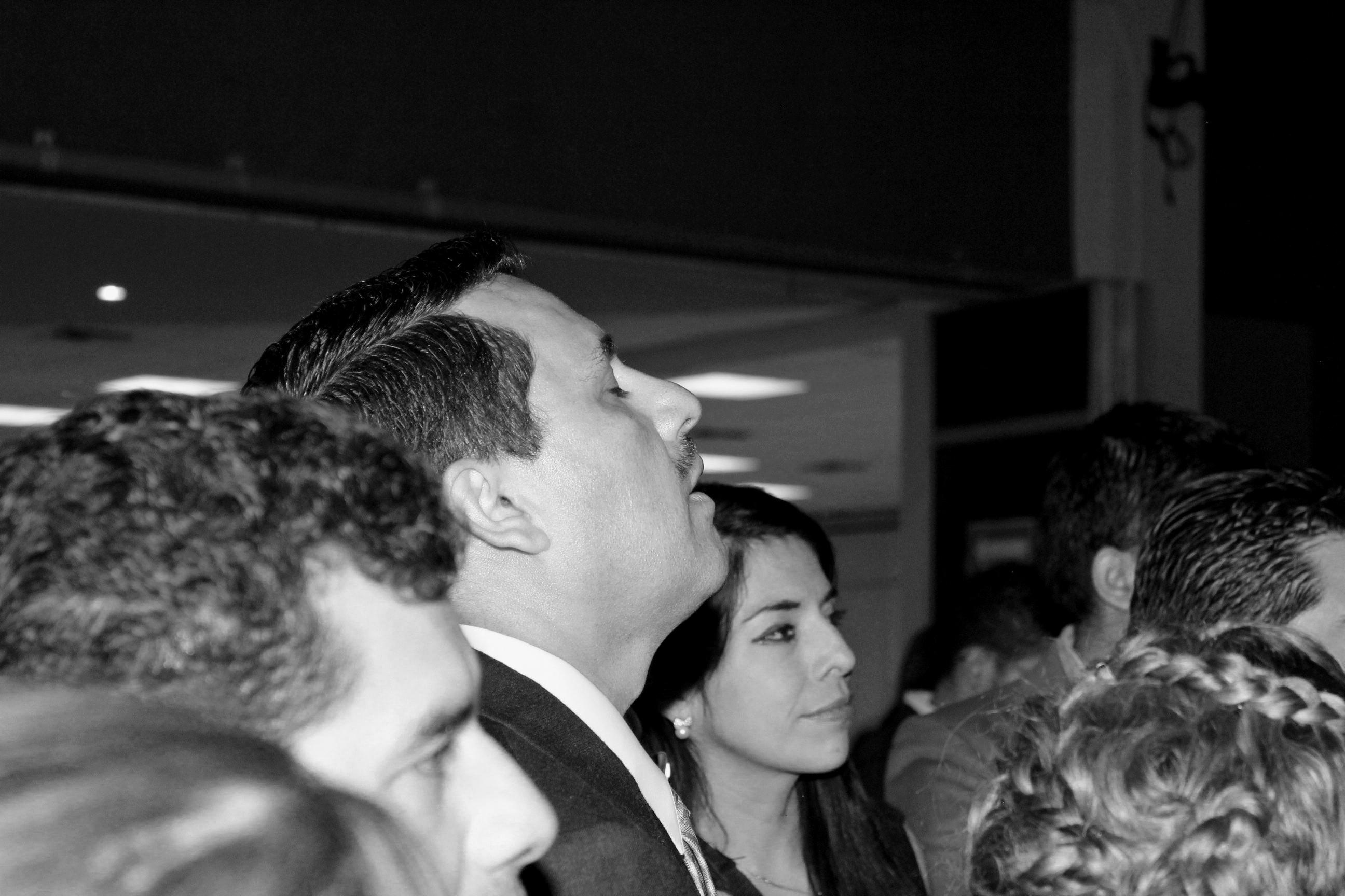 Óscar Cruz Oliva tras conocer su derrota. Foto: Lucía Rivera