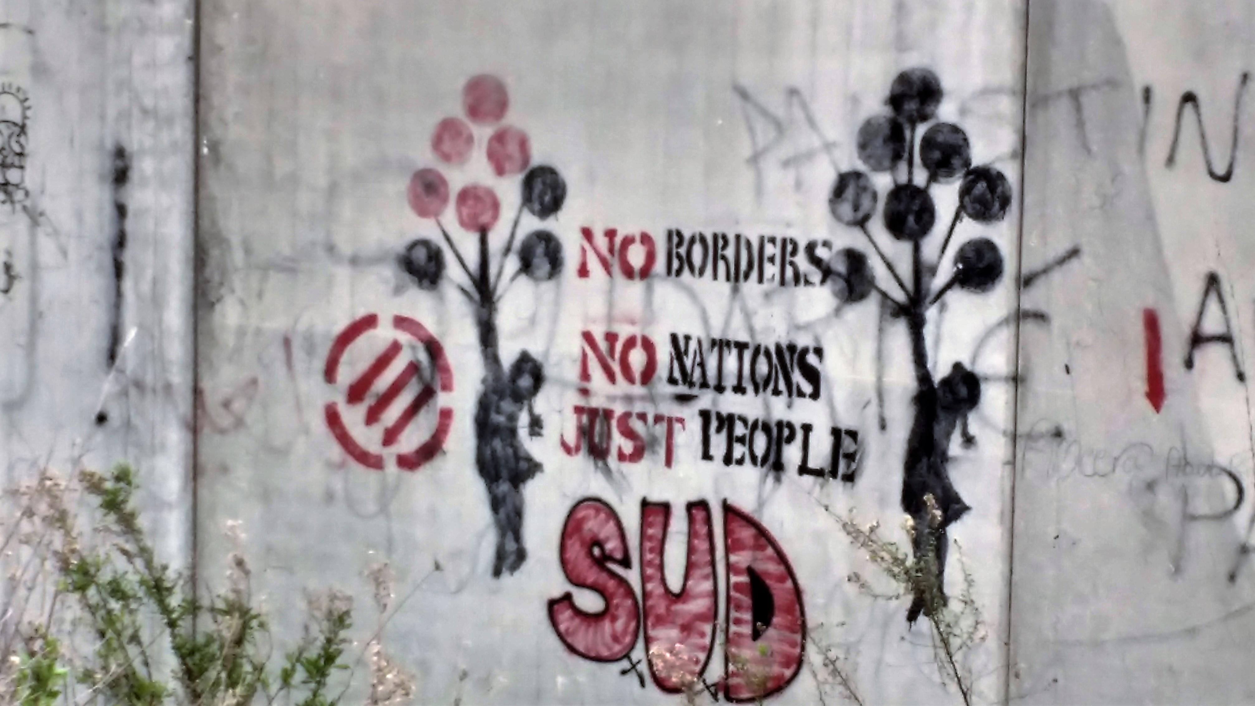"""""""Sin fronteras, sin nacionaes, solo pueblo"""" Foto: Susana Norman"""