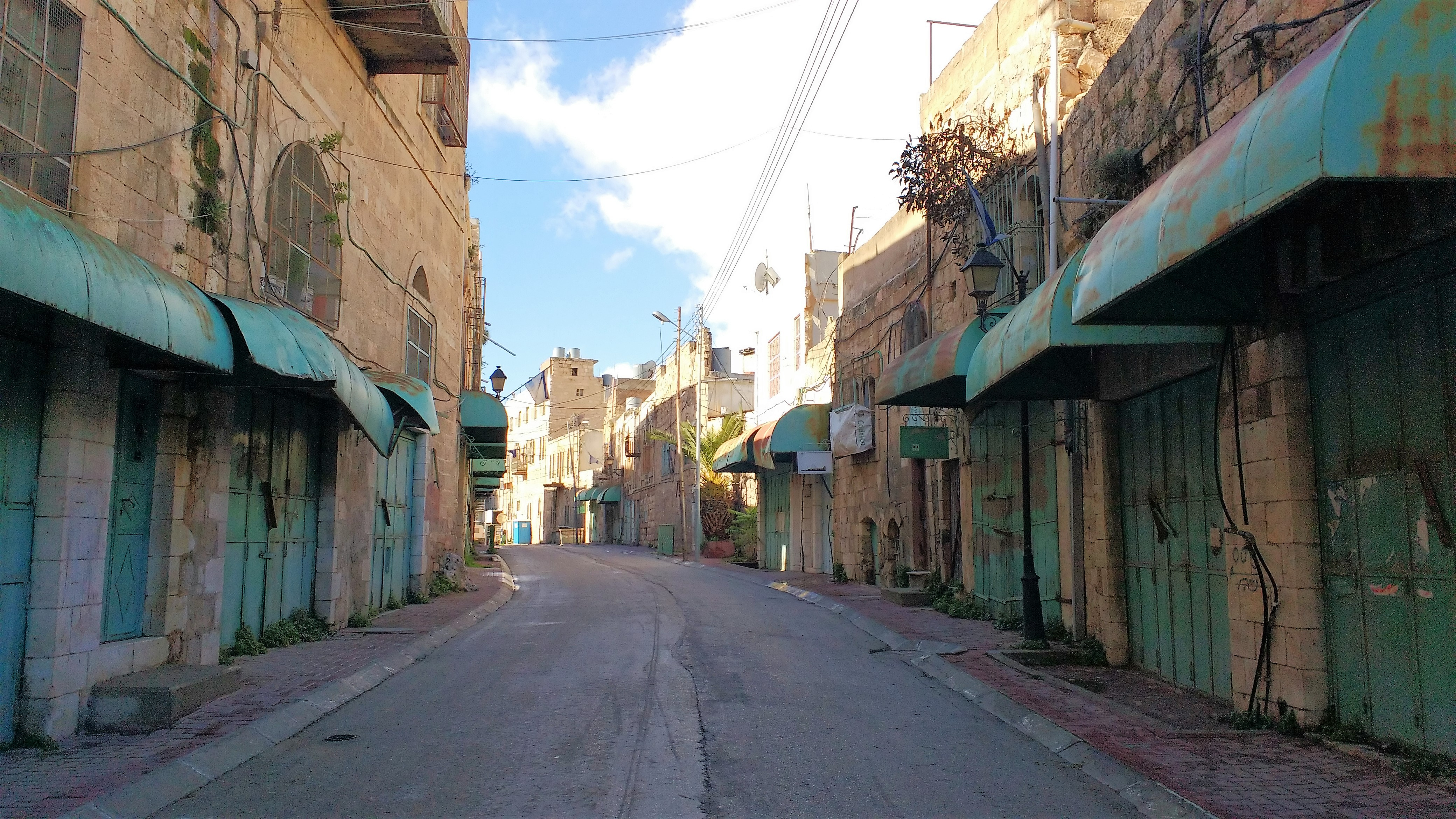 Las calles están vacías en Tel Rumeida, Hebrón. Foto: Susana Norman