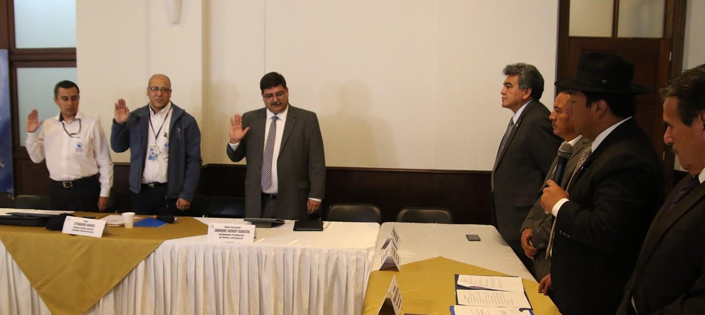 Comisión de Probidad fiscalizando el caso TCQ Foto: Bancada Winaq