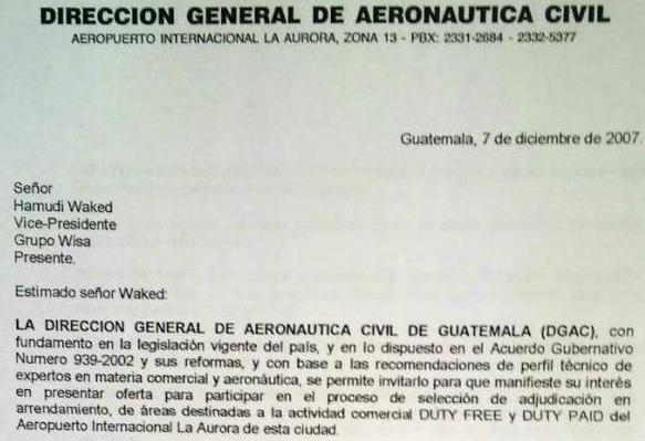 La invitación directa de Moreno Botrán a Wisa.