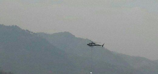 Uno de los helicópteros contratados por Exmingua