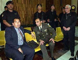 Byron Lima en el juicio del caso Gerardi.