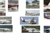 Las avionetas que registró el Ministerio Público. Fuente: MP